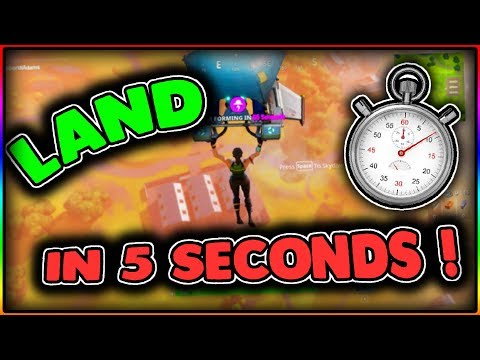 Fortnite Battle Royale - How To Land Faster (How To Parachute Faster In 5 Seconds! ) 2017!