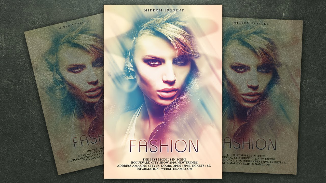 Design A Fashion Flyer Photoshop Tutorial   YouTube  Fashion Poster Design
