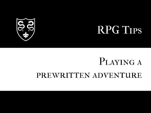 Solo RPGs: Playing a Prewritten Adventure