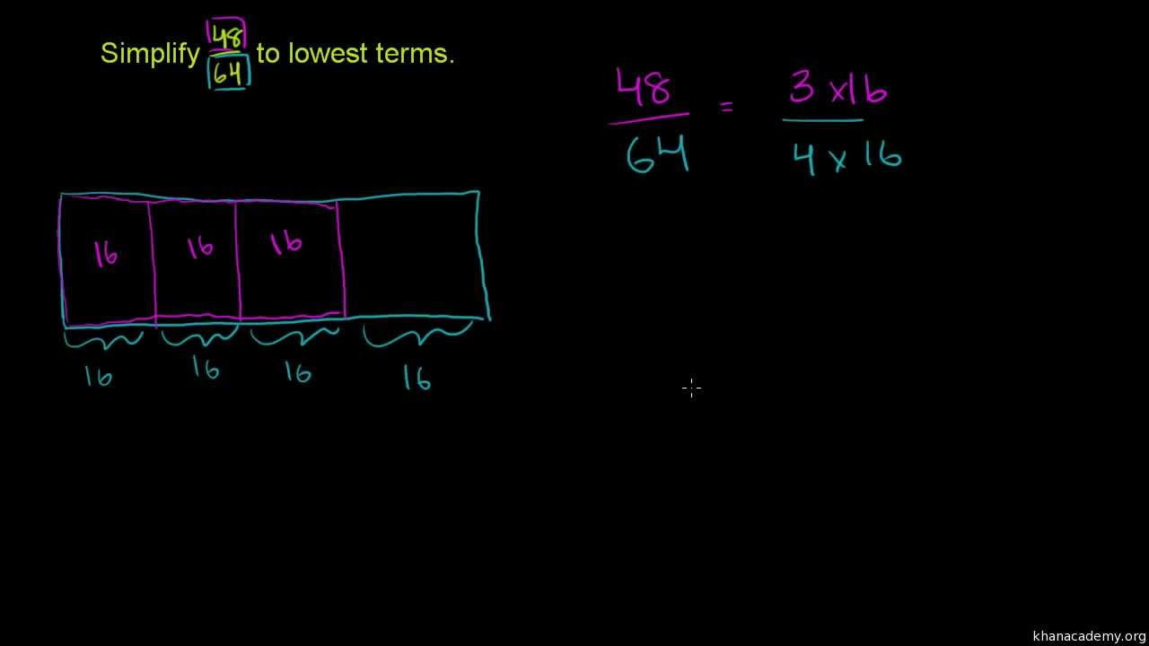 simplest form khan academy  Fractions: Simplest Form