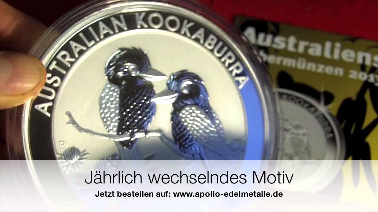 Silbermünzen Schönheit, die australische Kookaburra 2013