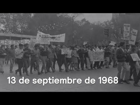Imágenes de archivo del 13 de septiembre de 1968, Marcha del silencio