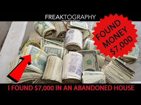 I FOUND $7000 CASH in an Abandoned House. Urban Exploration