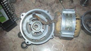 двигатель от стиралки Замена подшипников Переделка Часть 3