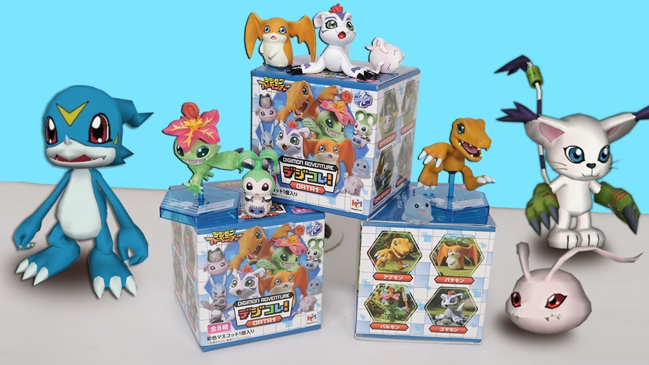 Opening 13 Digimon Mystery Blind Boxes Data 1 Youtube