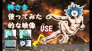 【ついに公開!】ビッグバンの神さま使ってみた、的な映像 敗北シーンも にゃんこ大戦争 The battle dogs(cats) - use God Cat【멍뭉이대전쟁】 thumbnail