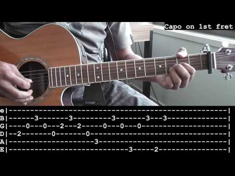 Slide (Goo Goo Dolls) Intro Guitar Cover + Tabs and Slow Motion Lesson