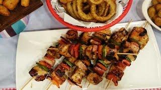 Brochettes de pollo marinadas con Alina Moine y Nacho Goano