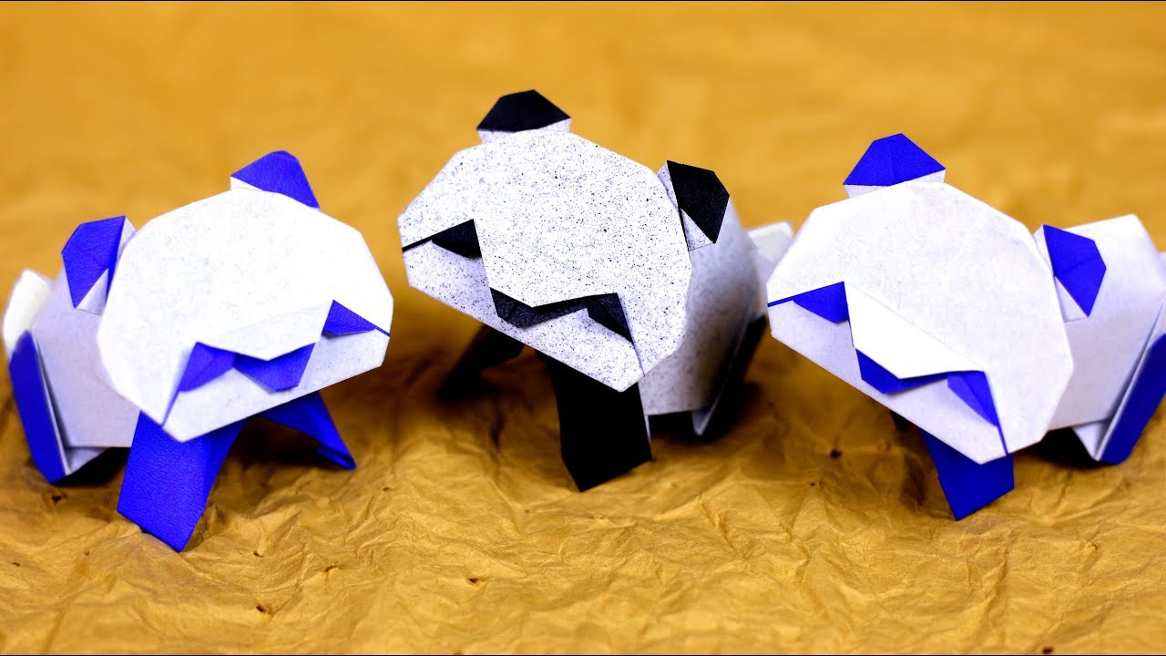 How to Make an Origami Panda Step by Step Instructions | Free Printable  Papercraft Templates | 720x1280