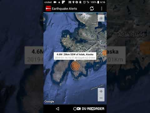 Adak Alaska Earthquake January 14th 2019 Youtube
