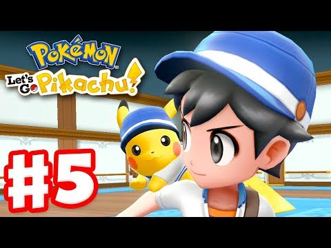 Pokemon Lets Go Pikachu and Eevee - Gameplay Walkthrough Part 5 - SS Anne On a Boat