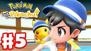 Pokemon Let's Go Pikachu and Eevee - Gameplay Walkthrough Part 5 - S.S. Anne! On a Boat!