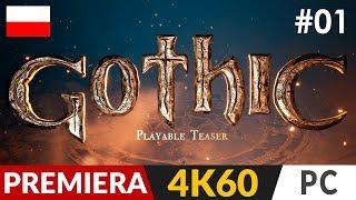 Gothic PL ⚔️ Remake - Playable Teaser #1  Witamy w kolonii 4K Ultra / Gameplay po polsku