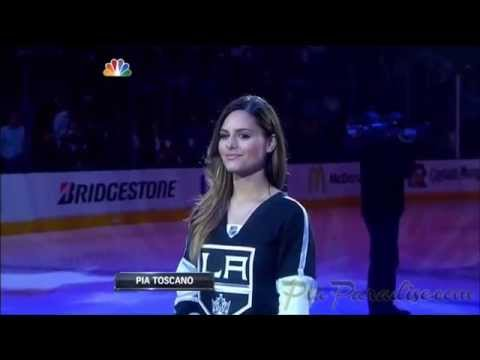 Pia Toscano Sings The National Anthem - Stanley Cup Final Game 5 - LA Kings vs NY Rangers - 6/13/14