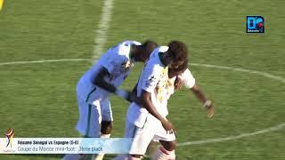CM mini-foot : Résumé match Sénégal VS Espagne 3ème place