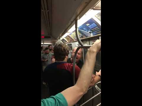 L Train Racist Soup Toss