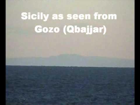 SICILY (LA SICILIA) AS SEEN FROM QBAJJAR IN GOZO (MALTA)