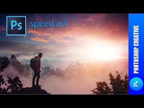 Speed Art - Туманный закат (#Photoshop)   PhotoshopCreative