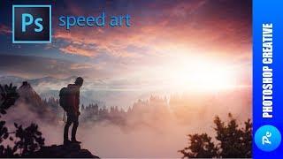 Speed Art - Туманный закат (#Photoshop) | PhotoshopCreative
