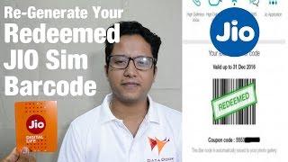 How to Regenerate YourRedeemed JioSim Barcode   Data Dock