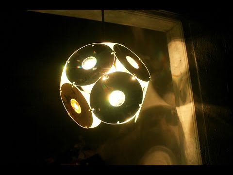 How To Make Decorative Lights Hanging From Used Compact Disk