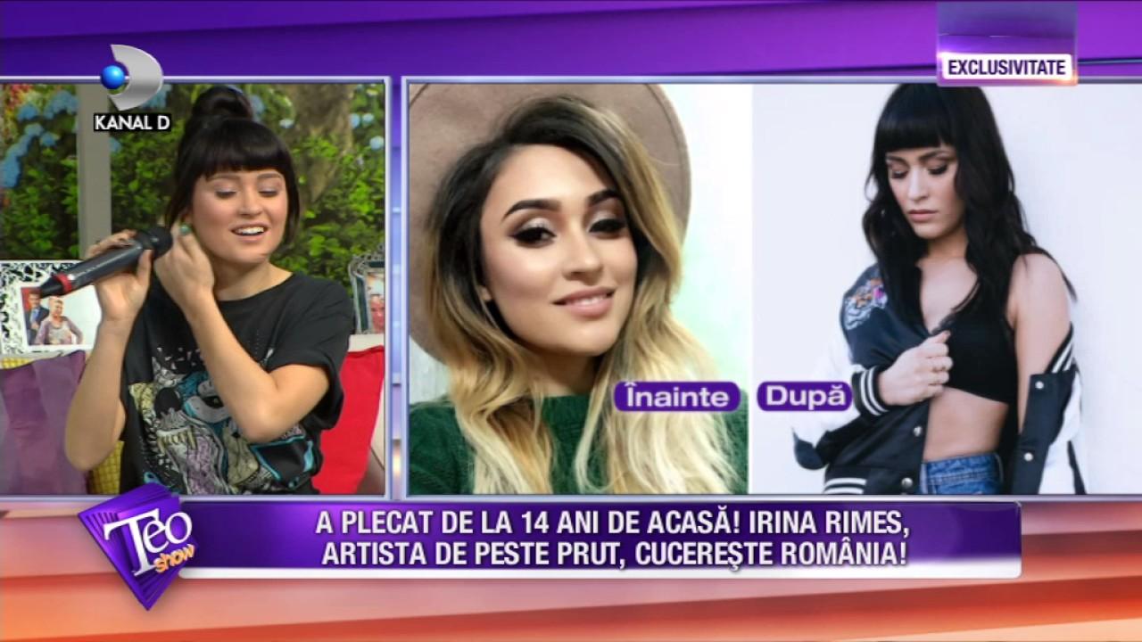 Teo Show (22.03.2017) - Irina Rimes a plecat de acasa la 14 ani! Povestea ei de viata e incredibila