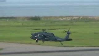 航空自衛隊救難ヘリコプターUH-60J 新潟空港 JSDF helicopter UH-60J Ni...