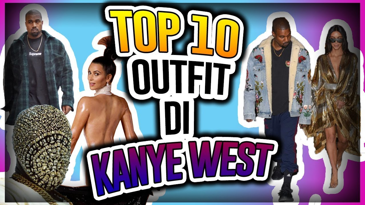 TOP 10 OUTFIT DI KANYE WEST (YEEZY) - YouTube 37cb9df8c4b8