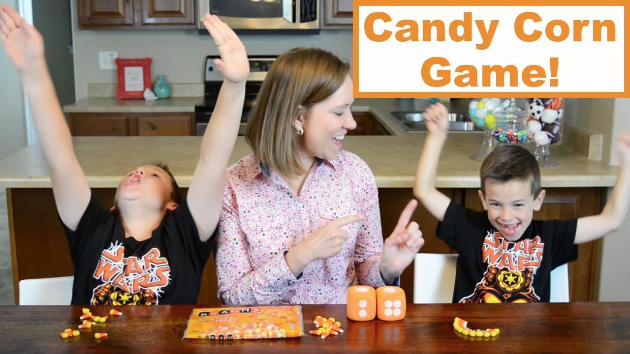 diy halloween party games candy corn roll family fun every day