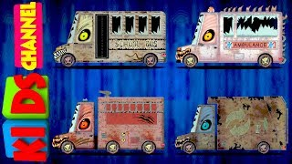Scary Street Vehicles   Learning Video For Kids   Learn Vehicles Names