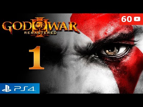 God of War 3 Remastered PS4 Walkthrough Parte 1 Intro + Kratos vs Poseidon Gameplay Español 60fps