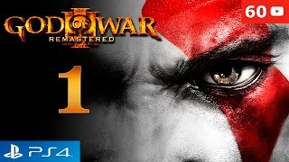 God of War 3 Remastered PS4 Walkthrough Parte 1 Intro + Kratos vs Poseidon Gameplay Español 60fps