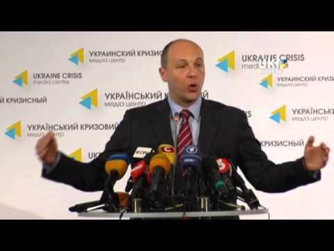 Andriy Parubiy. Ukrainian Сrisis Media Center. May 8, 2014
