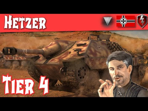 WOT Blitz - Hetzer Full Tank Review - German Tier 4 Tank Destroyer (pre Update 5.5) || WOT Blitz ||