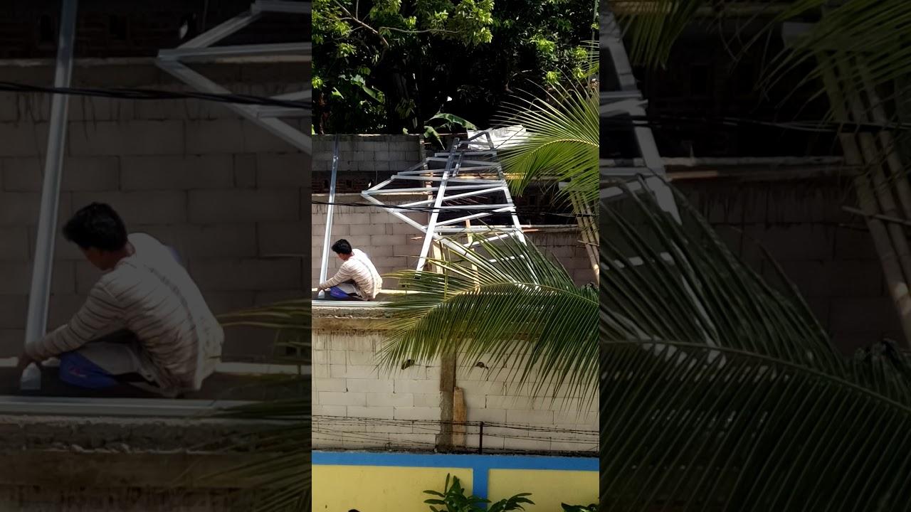 pondasi dengan baja ringan cara membuat atap rumah 1 youtube