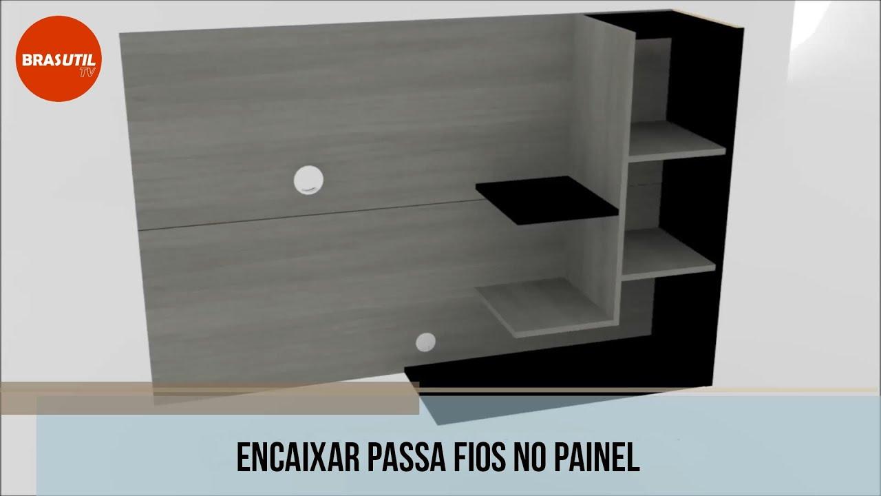 Brasutil Montagem Painel para TV Home Sleep Simbal. Brasutil  #C93102 1920x1080