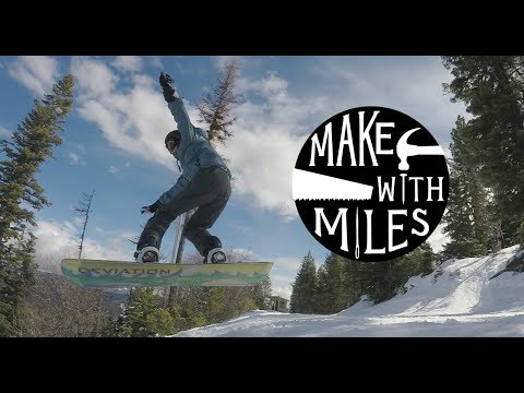 How to Make a SNOWBOARD! // Woodworking