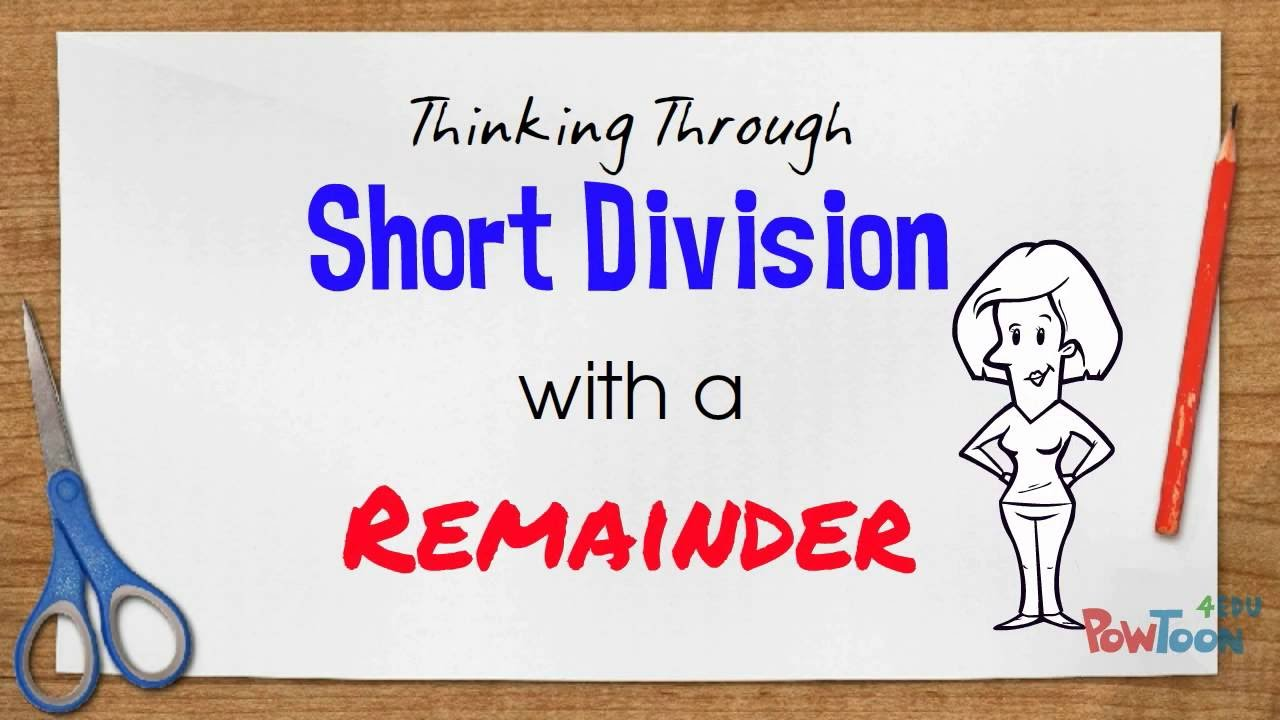 medium resolution of Short Division with Remainders - YouTube
