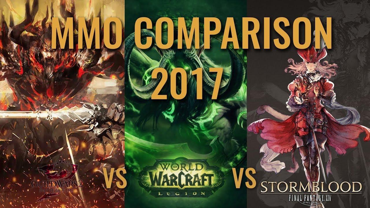 MMO Comparison 2017 (GW2, WOW, FFXIV)