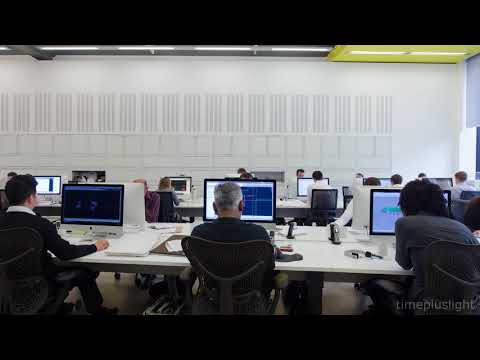 Office workers by day - Timelapse Tuesday 4k