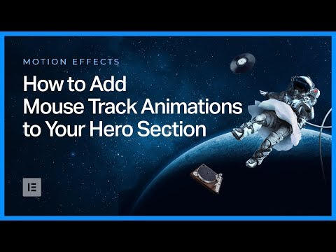 How to Add Mouse Track Animations to Your Hero Section in Elementor