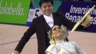 Ciudad de Miraflores 2016. Entrega de Campeonato Juvenil. Johnny Calle y Lidice Castillo