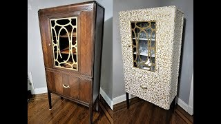 Furniture Project with Peel and Stick Wallpaper