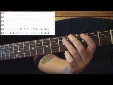 How To Read Tablature & Do Common Guitar Techniques Part 1 of 3