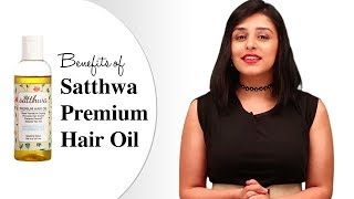 Benefits of Satthwa Premium Hair Oil | A mix of 9 oil Almond, Jojoba, Olive, Emu, Grapeseed & more!