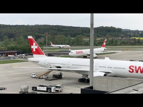 Zürich Airport Planespotting April 2017 - Part 3 (Observation Deck E)