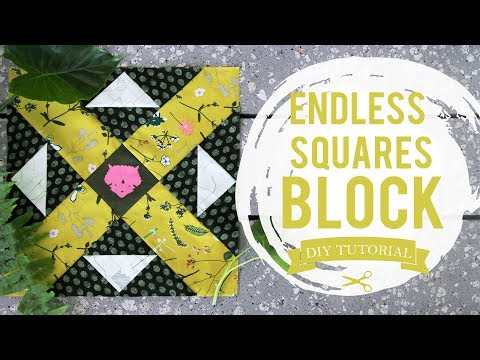 How to Make a Endless Squares Block featuring Esoterra Fabrics