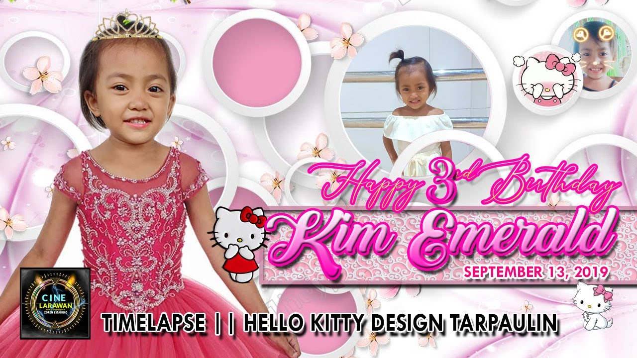 hello kitty birthday christening layout concept