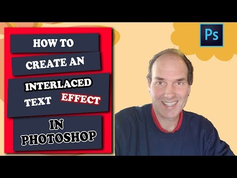 How To Create An Interlaced Text Effect In Photoshop | Photoshop Tutorial thumbnail