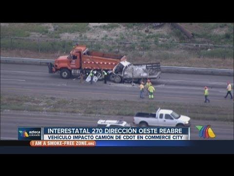 Interestatal 270 dirección oeste reabre tras accidente aparatoso 5-20-14